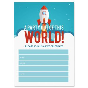 Out of This World Birthday Fill In Invitations