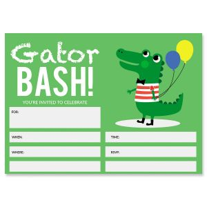Gator Birthday Fill In Invitations