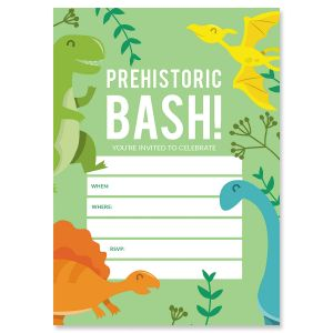 Prehistoric Bash Birthday Fill In Invitations