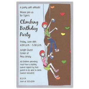 Climbing Wall Invitation