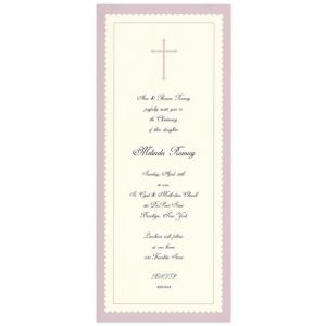 Lavender Cross Invitation