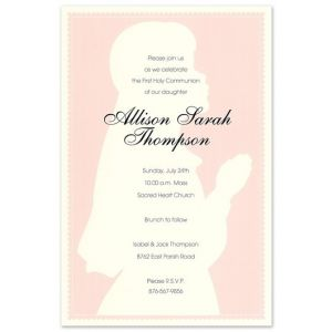 Praying Girl Invitation
