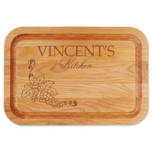 Vineyard Alder Engraved Wood Cutting Board