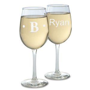 Personalized Stemmed Engraved Wine Glasses