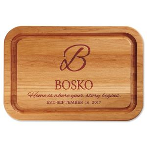 Home is Where Your Story Begins Engraved Alder Wood Cutting Board
