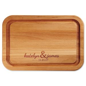 Couples Engraved Alder Wood Cutting Board