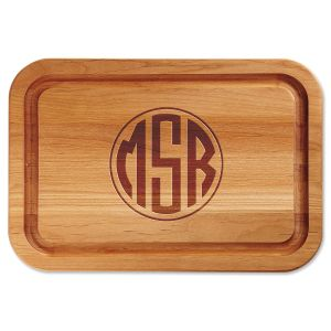 Monogram Engraved Alder Wood Cutting Board