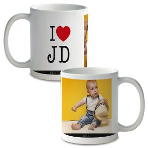 I Love Custom Ceramic Photo Mug