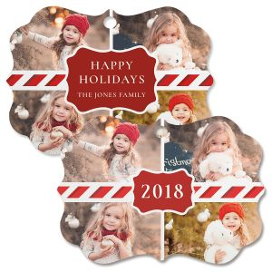 Happy Holidays Custom Photo Ornament