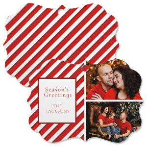 Candy Cane Custom Photo Ornament