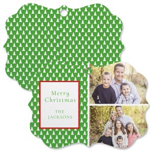 Green Tree Custom Photo Ornament