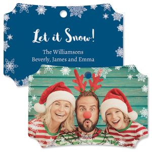 Let It Snow Custom Photo Deluxe Ornament