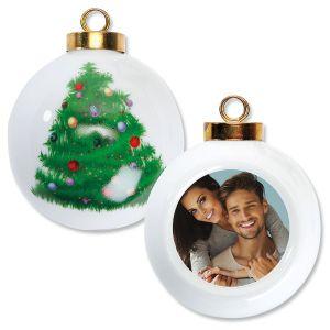 Full Custom Photo Round Tree Ornament