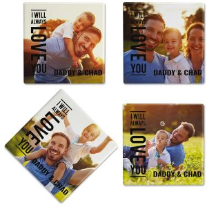 Always Love Photo Custom Coasters