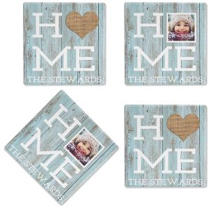 Rustic Home Photo Custom Coasters