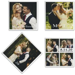 Nuptial Photo Custom Coasters