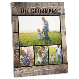Wood Slats Photo Plaque