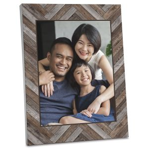 Wood Chevron Photo Plaque