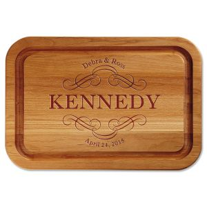 Scroll Engraved Alder Wood Cutting Board