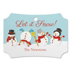Let It Snow Custom Deluxe Ornament
