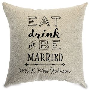 Be Married Customized Natural Pillow
