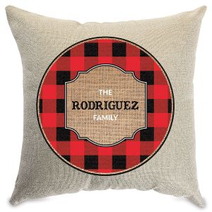 Plaid Customized Natural Pillow