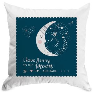 To The Moon Customized Pillow