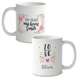 Floral Custom Ceramic Mug
