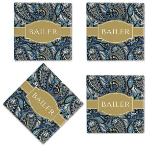 Paisley Customized Ceramic Coasters