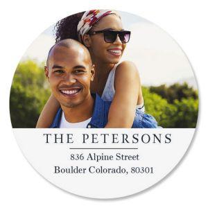 Classic Round Custom Photo Address Labels
