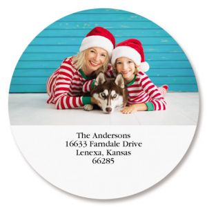 Direct Round Custom Photo Address Labels