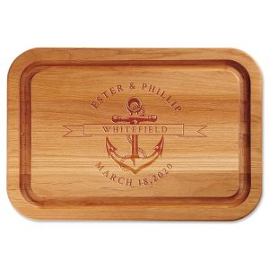 Anchor Engraved Alder Wood Cutting Board