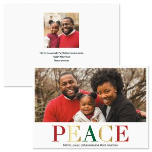 Peace Personalized Photo Christmas Cards