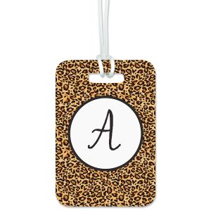 Custom Cheetah Print Luggage Tag