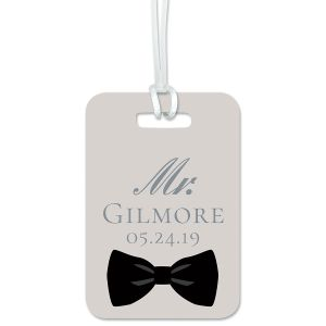 Custom Bow Tie Luggage Tag
