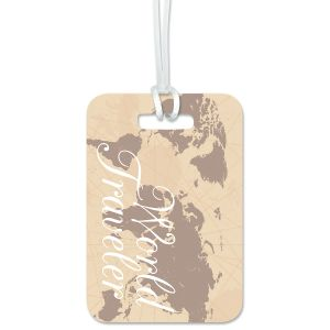 Custom World Traveler Luggage Tag