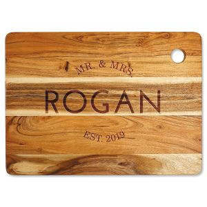 Acacia Mr. & Mrs. Large Cutting Board