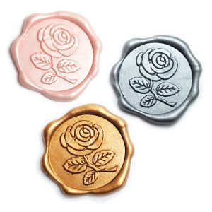 Rose Wax Seal Stickers