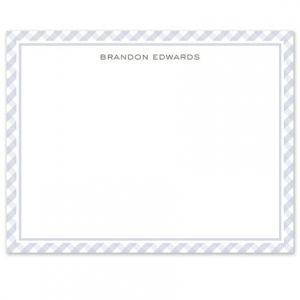 Blue Plaid Flat Card