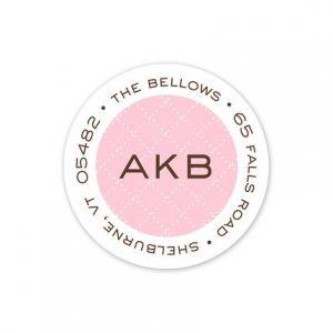 Pink Diamond Address Label