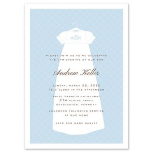 Dressed In Blue Invitation