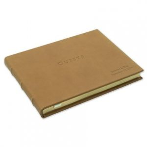 Tan Leather Guest Book