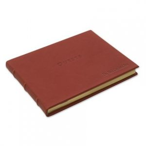 Red Leather Guest Book