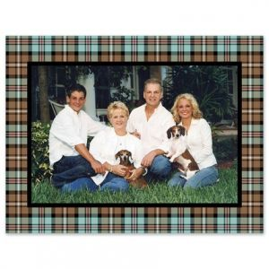 Mocha Plaid Photo Card