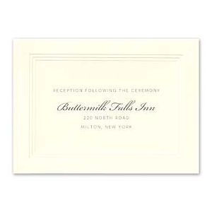 William Arthur Weddings Volume I 2016 127496 127480 Reception Card