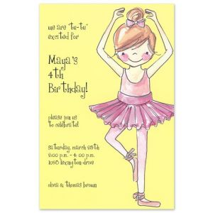 Ballerina Girl Invitation