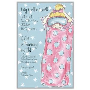 Sleepover Girl Invitation