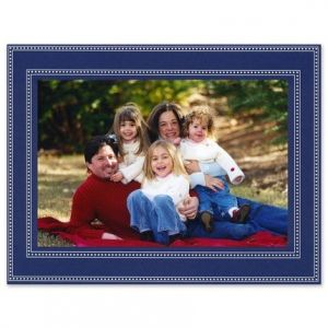 Navy Beaded Photo Card