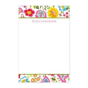 Bright Floral Note Pad