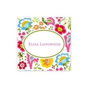 Bright Floral Square Sticker